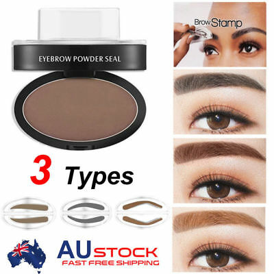 EYEBROW STAMP Powder Palette Natural Definition Brow Makeup Cosmetic Brown S4