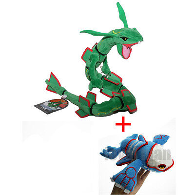 Pokemon Center Rayquaza & Kyogre Plush Doll Pokedoll Toy Xmas Gift Set of 2pcs