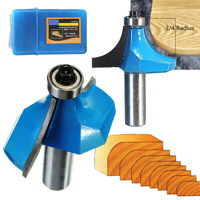 Woodworking Chisel Cutter Round Over Edging Router Bit 3/4'' Radius 1/2'' Shank