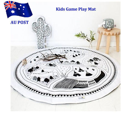Soft Cotton Baby Kids Game Gym Activity Play Mat Crawling Blanket Floor Rug SN