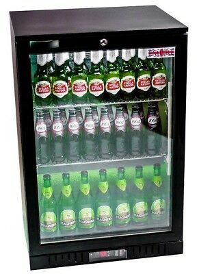 Commercial Single Door Display Bottle Back Bar Cooler Chiller Beer Wine Fridge