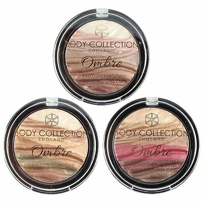 Body Collection Ombre 6 Baked Eyeshadows Compact Makeup Set Palette Eyeshadow