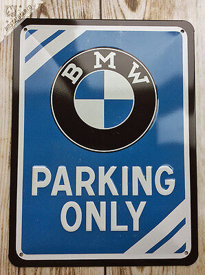 BMW - PARKING ONLY - Embossed Metal Sign GARAGE (Official Licensed Product) car