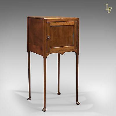 Antique Bedside Cabinet, Georgian Pot Cupboard Nightstand, English, c.1780