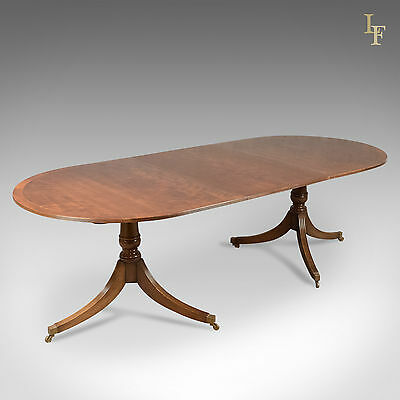 Extending Dining Table in Regency Taste, Mahogany, 8 Seat, Quality
