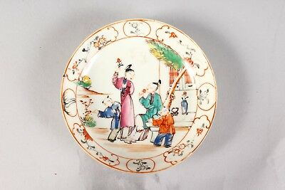 A Antique Chinese Porcelain Famille Rose Saucer