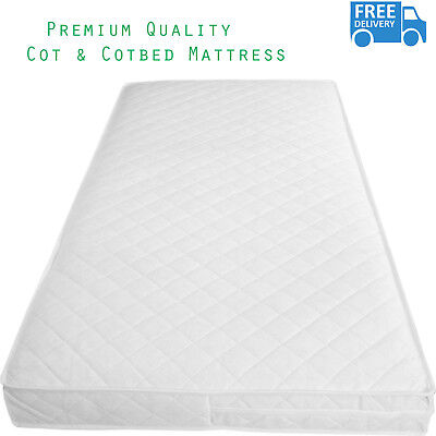 Baby Toddler Cotbed Foam Mattress Extra Breathable Quilted Cover All Size Availa