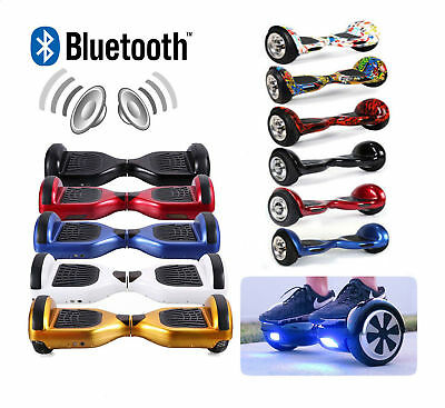 "Patinete electrico patin scooter 6,5"" monociclo overboard con Bluetooth colores"