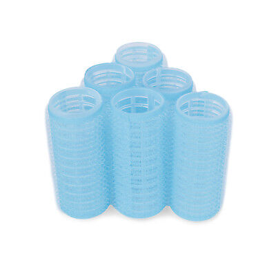 New Professional Cling Hair Rollers Blue 6 x 65mm Super Jumbo Hair tools