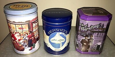 Hershey Chocolate & Mars M & M's Peanut Collectable Tins Lot of 3