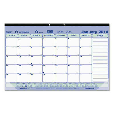 2018 Desk Pad Calendar Monthly View Desktop Planner With Notes 17 3/4 x 10 7/8