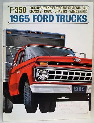 1965 Ford F-350 Commercial Trucks Advertising Sales Brochure Guide Vintage