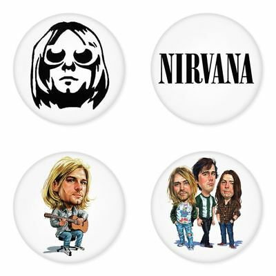 Nirvana, B - 4 chapas, pin, badge, button