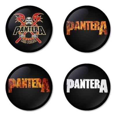 Pantera , B - 4 chapas, pin, badge, button