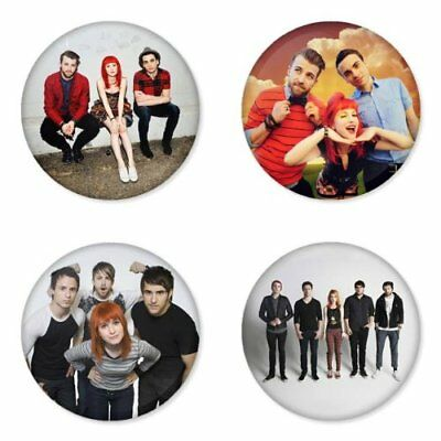 Paramore, B - 4 chapas, pin, badge, button