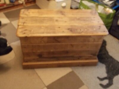 Hand made solid pine blanket box /chest made from reclaimed timbers 80x42x47cm