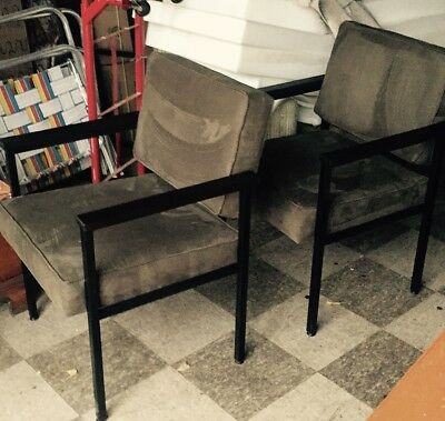 Free Greyhound Shipping and NEW FABRIC! Vintage, Mid Century, Industrial Chair