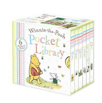 Winnie the Pooh Pocket Library Baby Board Book Books Collection Box Set Bundle