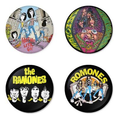 Ramones, punk, ska, B - 4 chapas, pin, badge, button