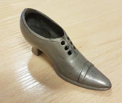 Antique, Victorian Pewter Shoe (Pin Cushion).