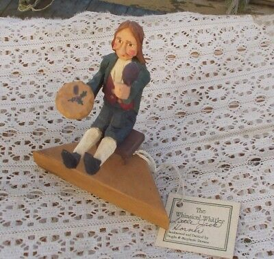"Vintage 5.5"" Wood Carved Figurine Whimsical Whittler Rawson Little Jack Horner"