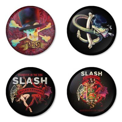 Slash, Guns, Velvet Revolver, B - 4 chapas, pin, badge, button