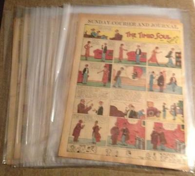 Timid Soul / Bringing Up Father Full Page Lot Sunday Funnies Color Comic 1931