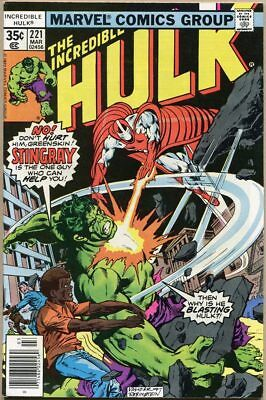 Incredible Hulk #221 - VF+