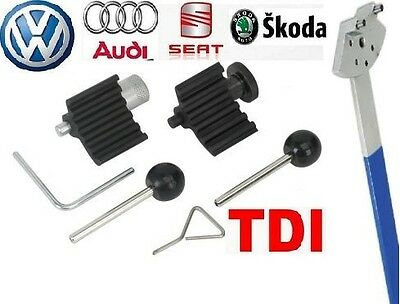 Audi Seat VW Skoda TDI Engine Camshaft Crankshaft Timing Lock Tools Tensioner .