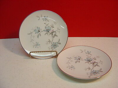 Noritake China LORENE Two 2 Bread and Butter Plates Excellent Condition 6 1/4""