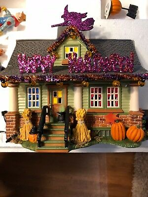 Dept 56 1031 Trick or Treat Drive Halloween House Gift Set-Excellent Condition