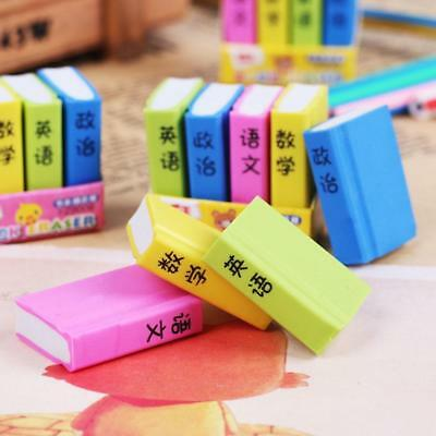 Office Stationery Book Style Eraser Student learning Pencil Erasers Kids Gift.;'