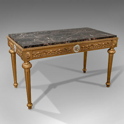 Mid-Century Coffee Table, French Gilt And Marble Circa 1960