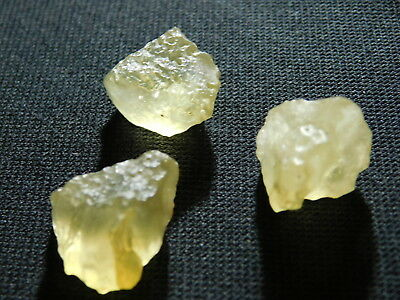 A Lot of THREE! Nice and 100% Natural Libyan Desert Glass Pieces! Egypt 13.4gr e