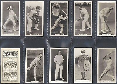 Boys Magazine-Full Set- Famous Cricket Series (F10 Cards) Baden Powell Scouts