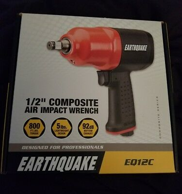 "Earthquake 1/2"" Composite Air Impact Wrench EQ12C NEW in Box"