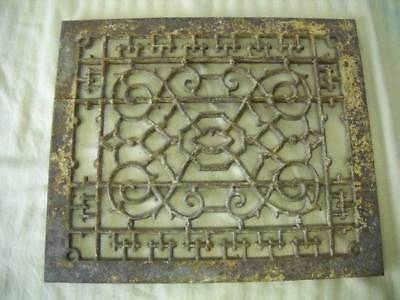 Antique Vintage Cast Iron Victorian Floor Heat Grate Register Vent Cover Ornate!