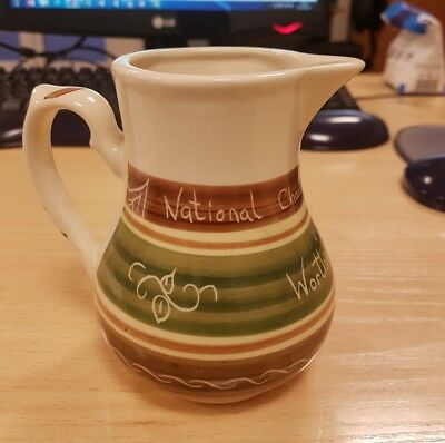 "Vintage Welsh Dragon Pottery Rhayader Milk Jug ""National Chamber Of Trade""  1981"