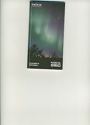 Nokia 6160 Cell Phone Owners Manual New
