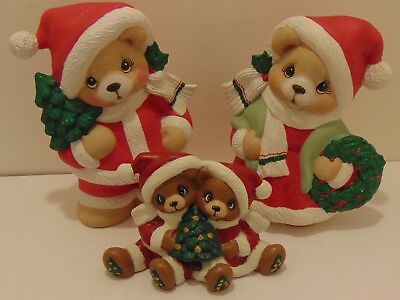 Large Christmas Bear Family!!! Ceramic!!!