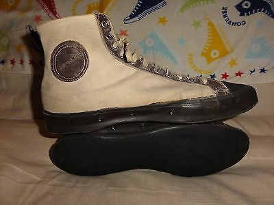Vintage Keds Converse Brown High Tops Made In Usa Size 10 Mens 1920