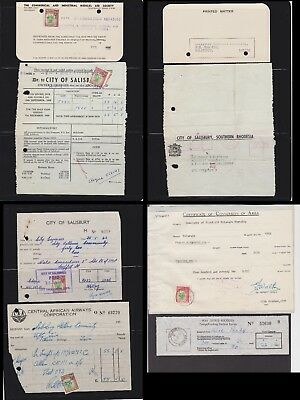 Southern Rhodesia - Interesting selection of documents, some with revenue stamps