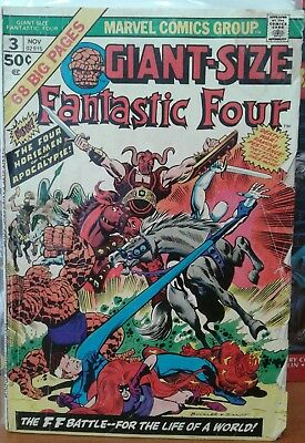 Giant Size Fantastic Four #3 and Gaint Size Fantastic Four #4