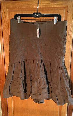 Noppies Glow Girl Khaki Maternity Skirt Sz M NWT