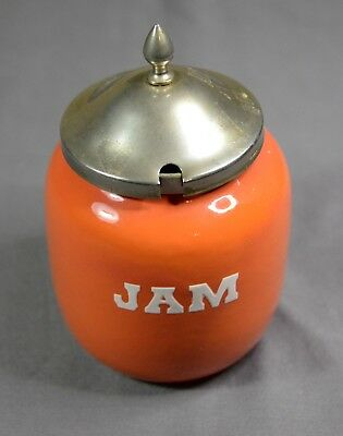 Antique Enamelware Jam Jar