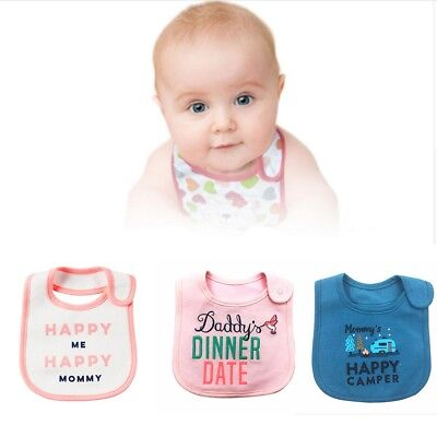 100% Cotton Baby Girl Boy Bibs Waterproof Apron Cartoon Toddler Dinner Baby Bibs