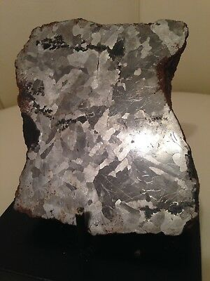 METEORITE/ THICK DOUBLE ETCHED 1.3 KILOGRAM/CAMPO DEL CIELO w/STAND
