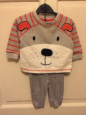 Baby Girls Dog Sweater & Leggings Age 3-6 Months