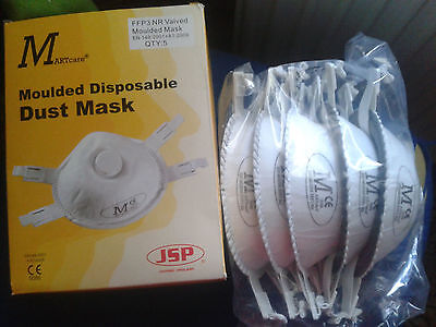 5 pieces - Dust-Masks-Mounded-Disposable-Respirator-Face