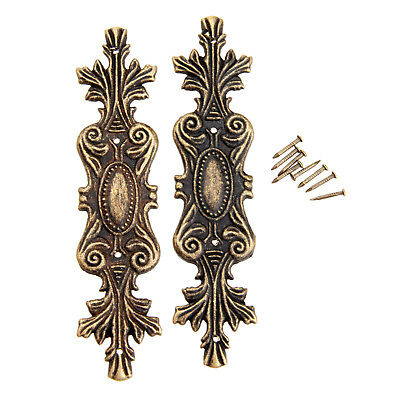 2Pcs Antique Decorative Corner Bracket for Furniture Wooden Box Feet Furniture C